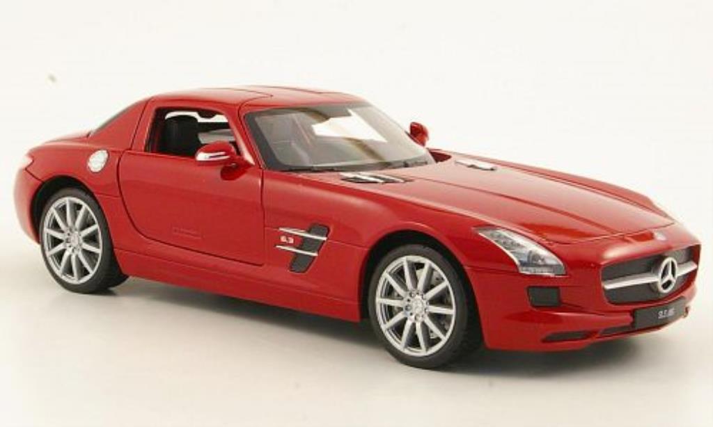 Mercedes SLS 1/24 Welly AMG (C197) rouge miniature