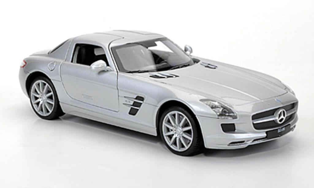 Mercedes SLS 1/24 Welly AMG (C197) grise miniature