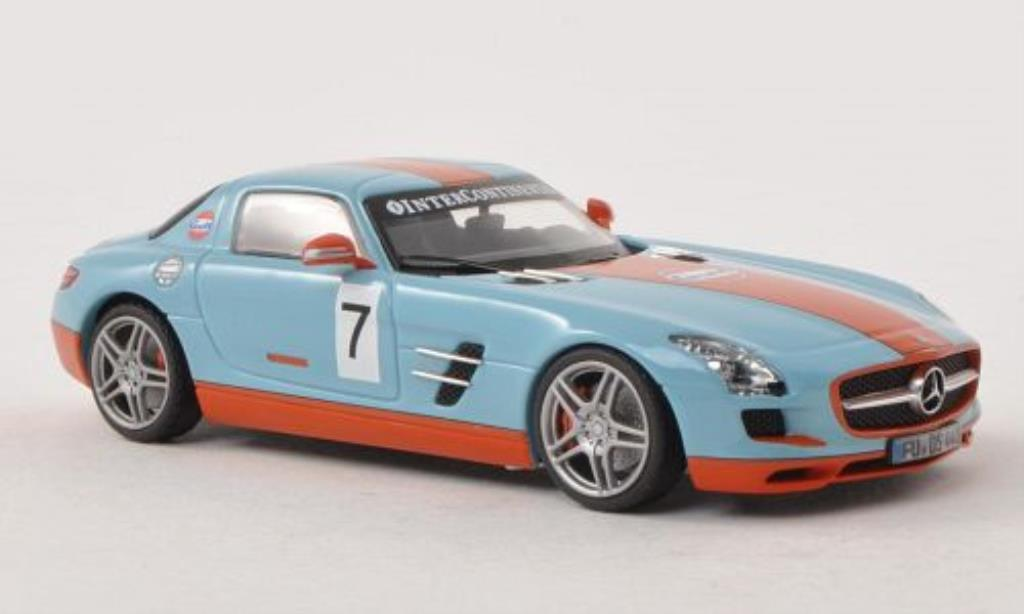 Mercedes SLS 1/43 Schuco AMG Coupe Gulf diecast model cars