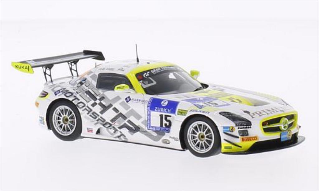 Mercedes SLS 1/43 Spark AMG GT3 No.15 HTP Motorsport GmbH 24h Nurburgring 2014 /R.Rehfeld miniature