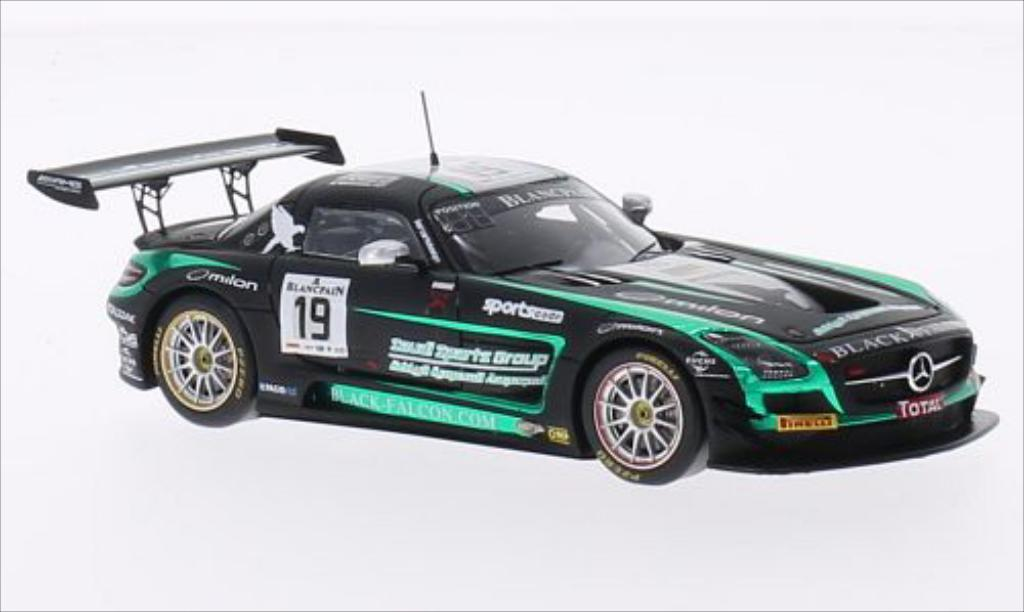 Mercedes SLS 1/43 Spark AMG GT3 No.19 Black Falcon 24h Spa 2014 miniature