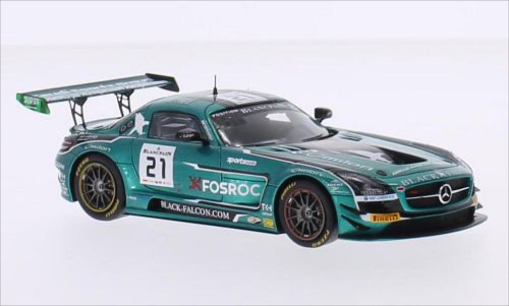 Mercedes SLS 1/43 Spark AMG GT3 No.21 Black Falcon Racing 24h Spa 2015 /A.Al miniature