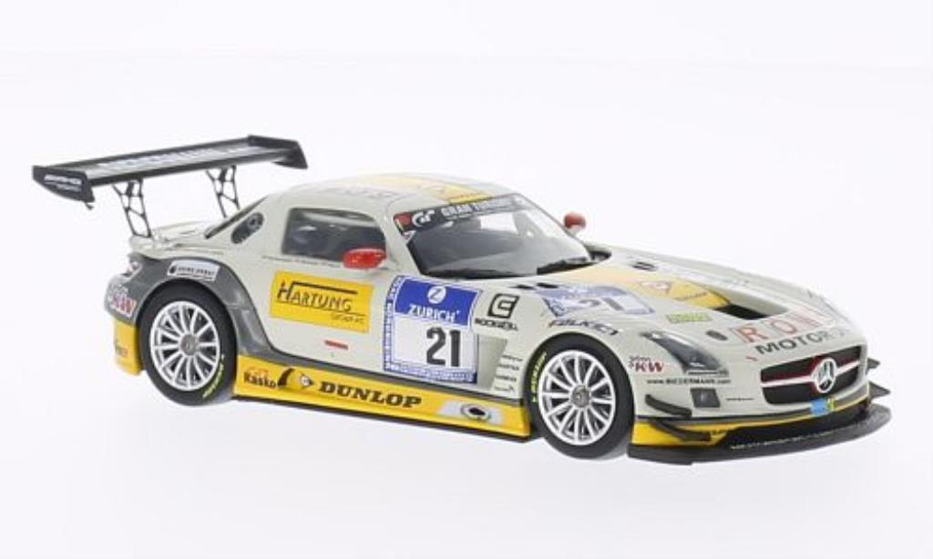 Mercedes SLS 1/43 Minichamps AMG GT3 No.21 ROWE Racing 24h Nurburgring 2013 /Hohenadel miniature