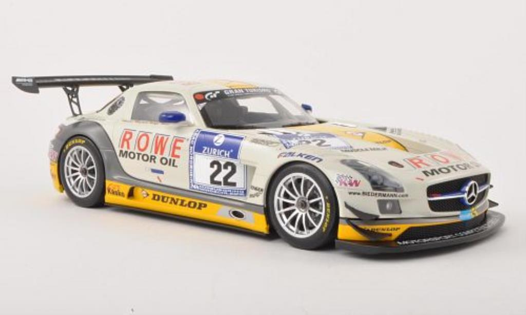 Mercedes SLS 1/18 Minichamps AMG GT3 No.22 Rowe Racing 24h Nurburgring 2013 /Bastian miniature