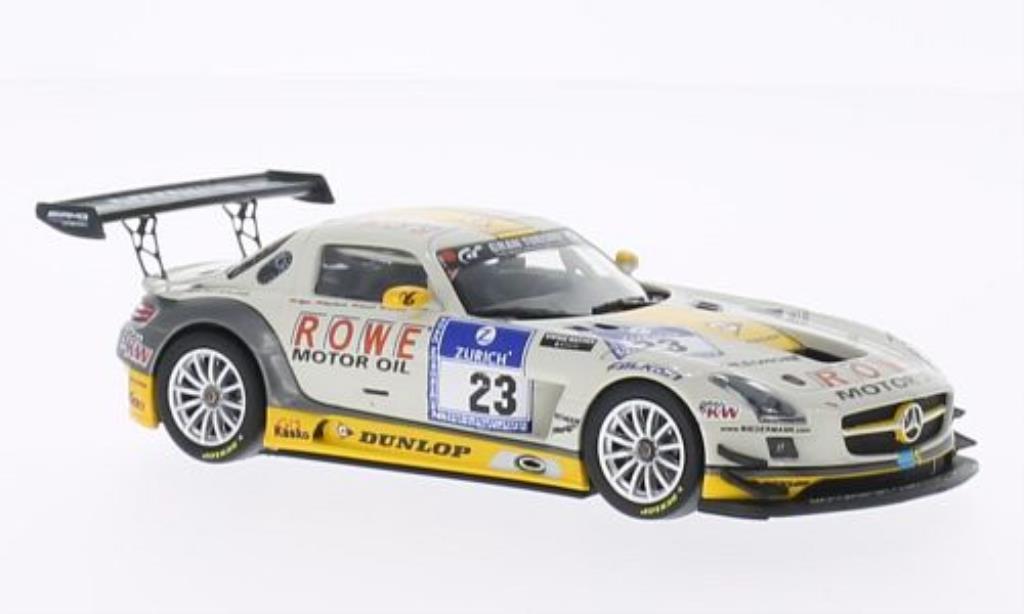 Mercedes SLS 1/43 Minichamps AMG GT3 No.23 ROWE Racing 24h Nurburgring 2013 /Jager miniature