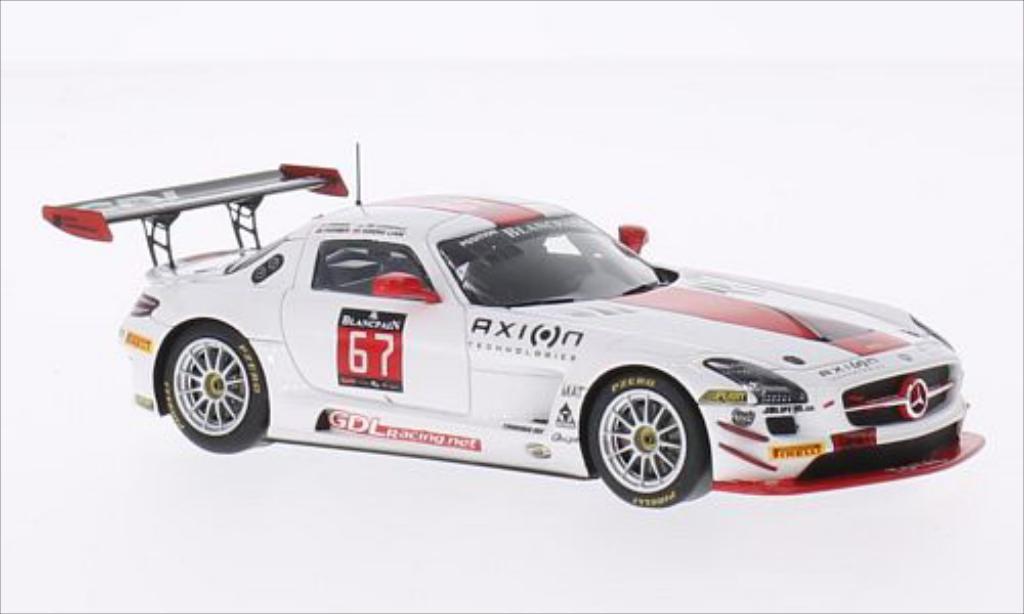Mercedes SLS 1/43 Spark AMG GT3 No.67 GDL Motorsport 24h Spa 2014 miniature