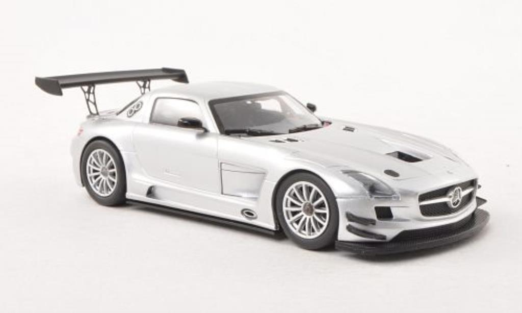 Mercedes SLS 1/43 Minichamps AMG GT3 grise Plain Body Version 2011 miniature