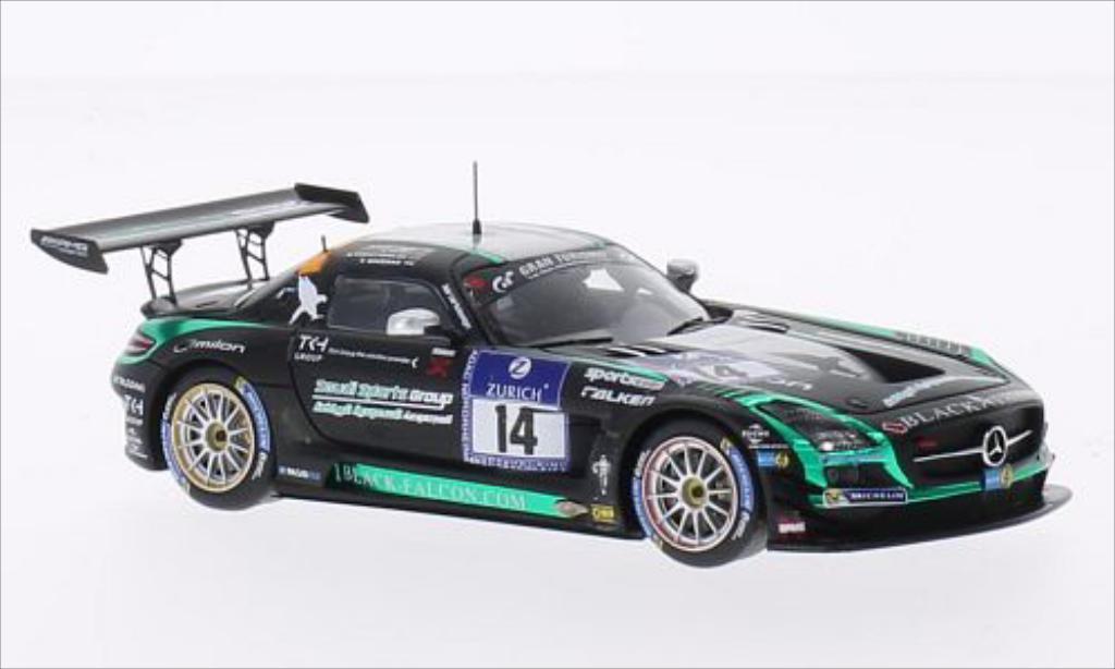 Mercedes SLS 1/43 Spark AMG No.14 Black Falcon 24h Nurburgring 2014 miniature