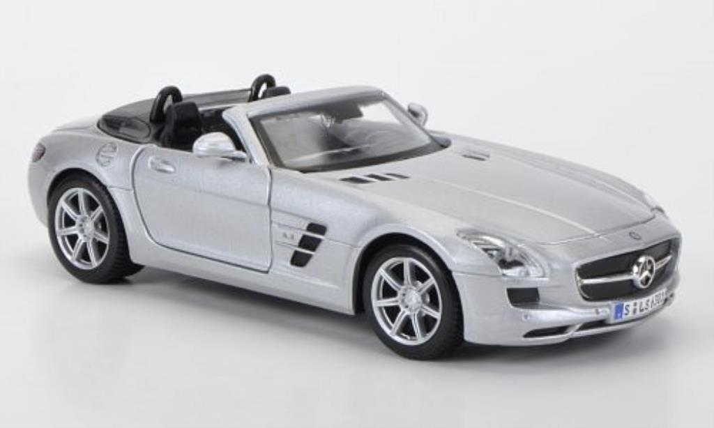 Mercedes SLS 1/24 Maisto AMG Roadster grise miniature