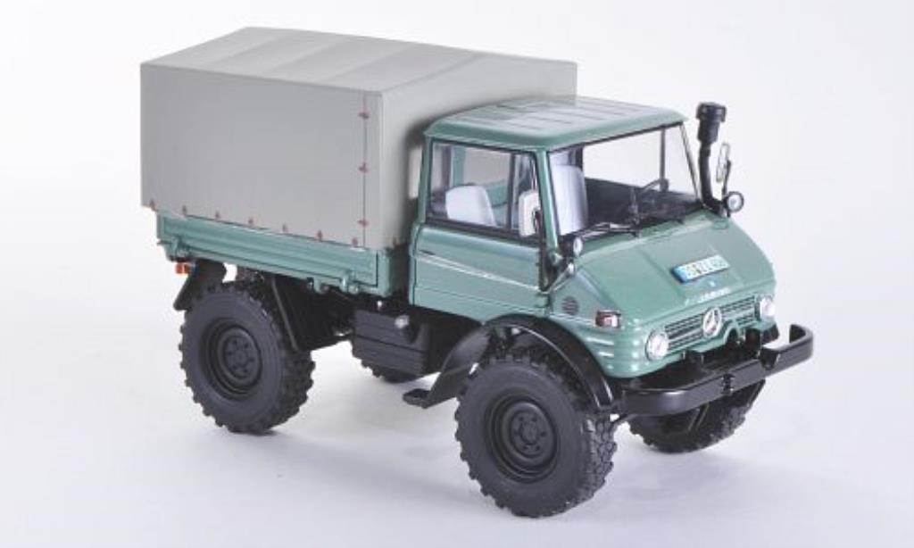 Mercedes Unimog 1/32 Weise 406 (U84) mit Ganzstahl-Fahrerhaus und Plane miniature
