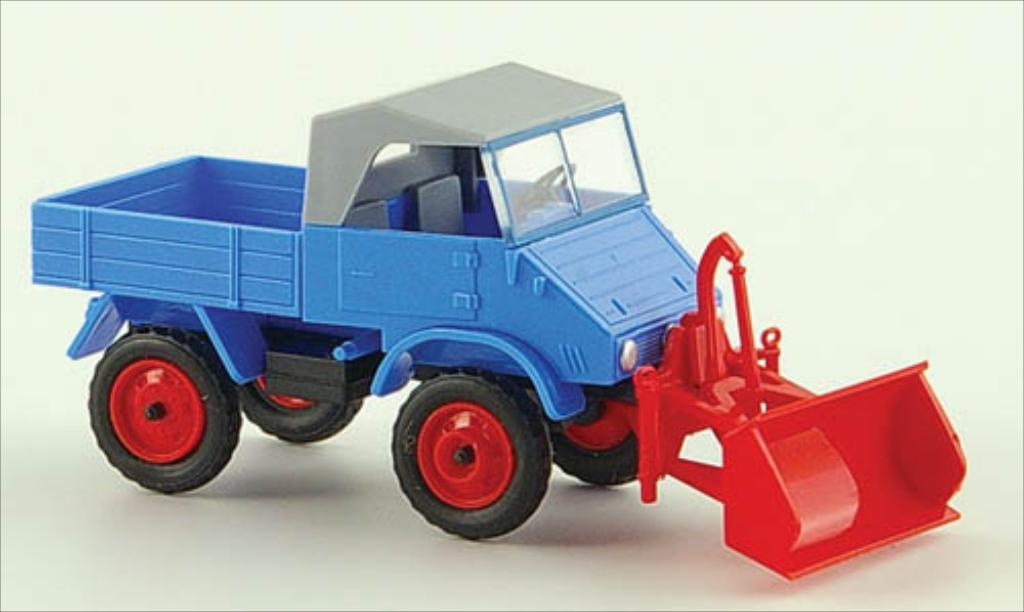 Mercedes Unimog 1/87 Epoche 411 bleu diecast model cars