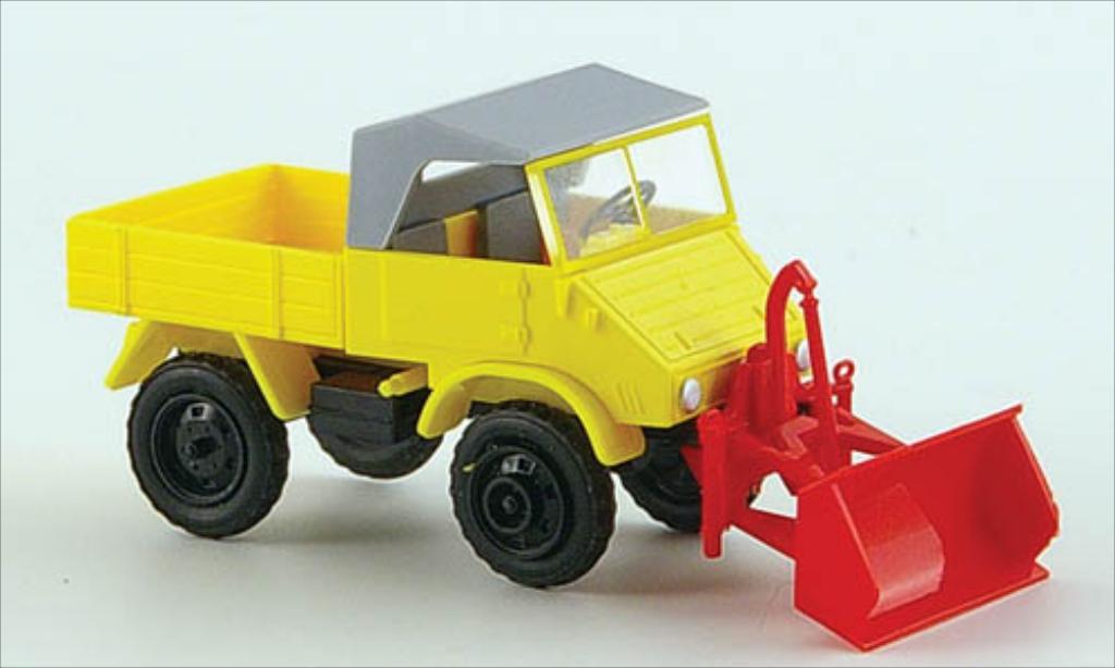 Mercedes Unimog 1/87 Epoche 411 yellow diecast