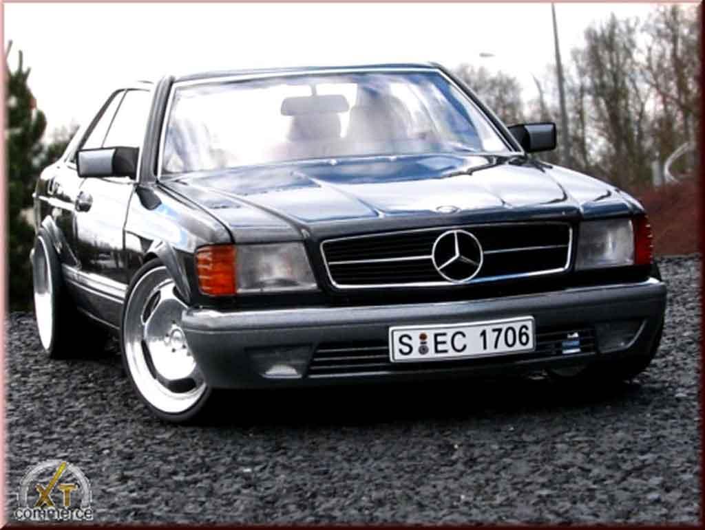 Mercedes 500 SEC 1/18 Autoart jantes 20 pouces miniature