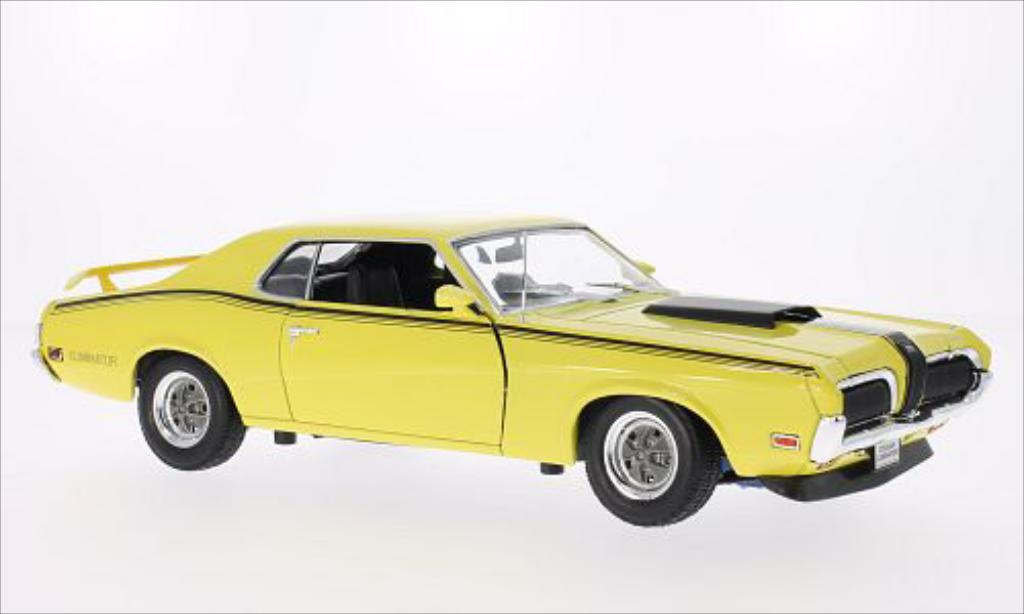 Mercury Cougar 1/18 Welly Eliminator jaune/matt-noire 1970 miniature