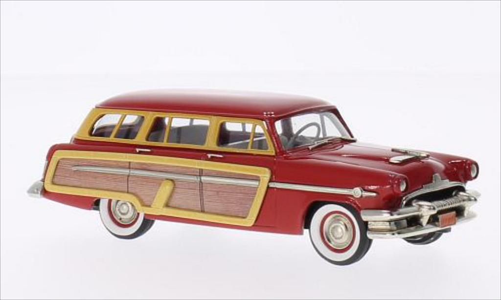 Mercury Monterey 1/43 Brooklin Station Wagon rouge/Holzoptik 1954 miniature