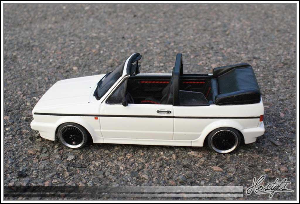 Volkswagen Golf 1 GTI 1/18 Ottomobile cabriolet bianca Schmidt Edition miniatura
