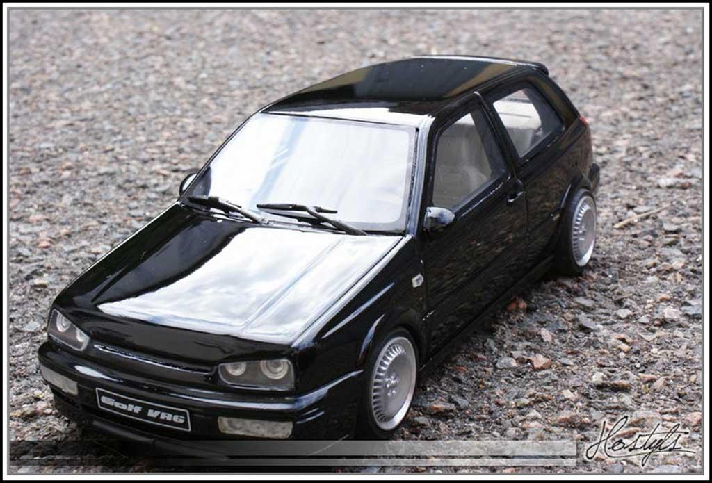 Volkswagen Golf III 1/18 Ottomobile VR6 noire jantes schmidt miniature