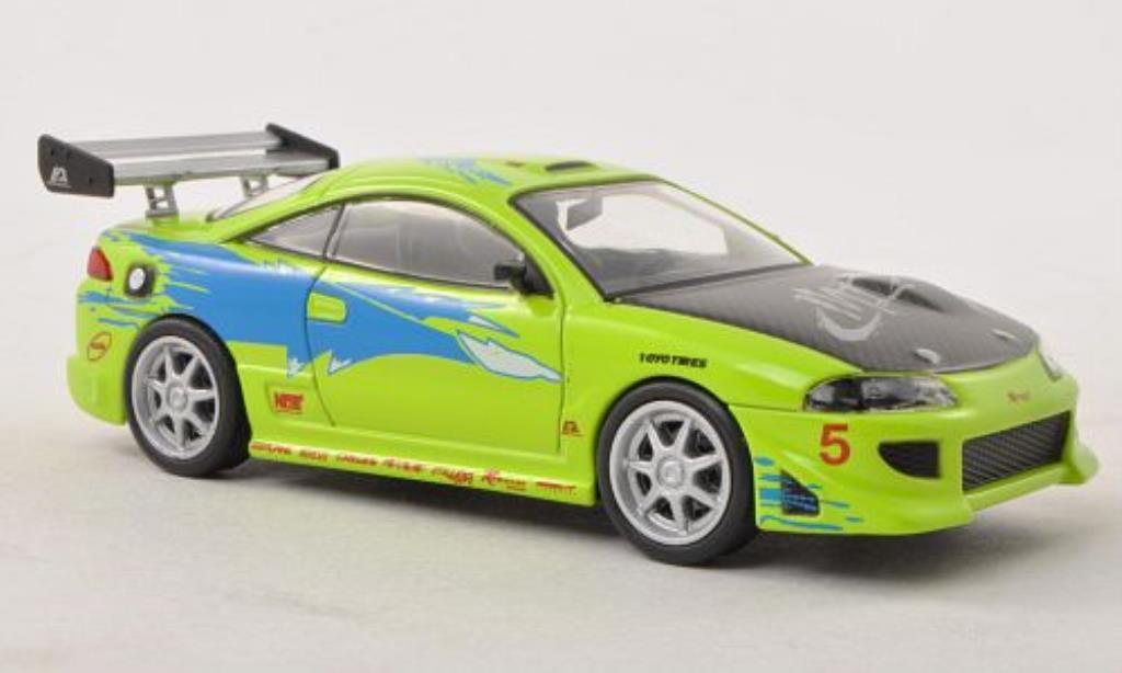 Mitsubishi Eclipse 1/43 Greenlight Tuning grun mit Dekor Fast & Furious 1995 miniature
