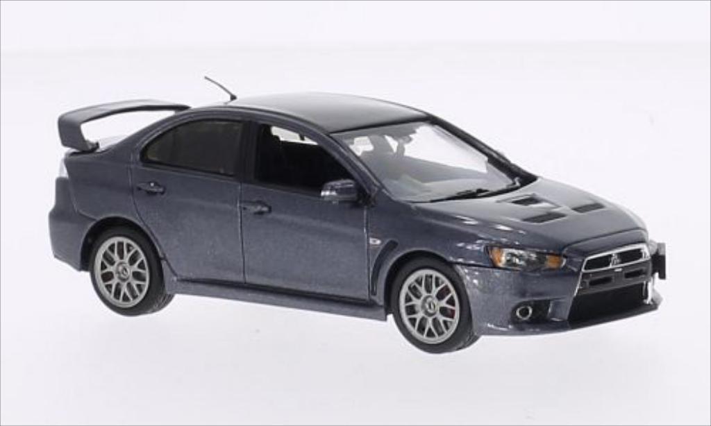 Mitsubishi Lancer 1/43 Vitesse Evo X Final Edition metallise grise RHD miniature