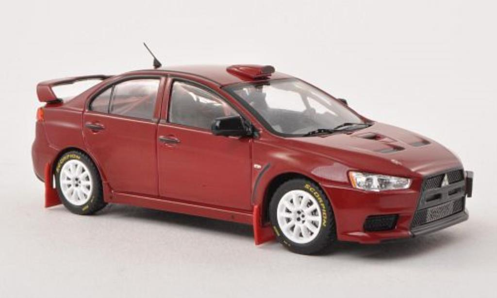 Mitsubishi Lancer 1/43 IXO Evo X Gr.N WRC Rally Edition rouge Plain Body Version 2007 miniature