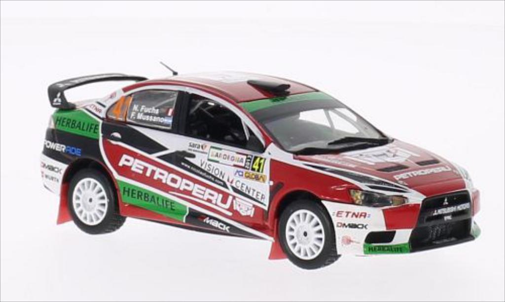 Mitsubishi Lancer 1/43 Vitesse Evo X Petroperu Rally Italia Sardegna No.41 2013 /F.Mussano miniature