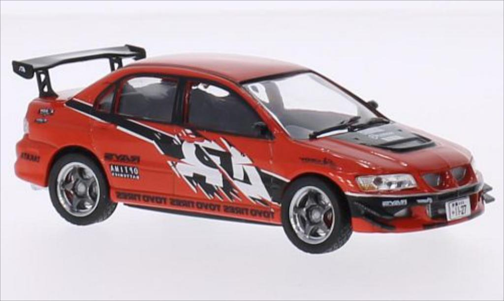 Mitsubishi Lancer 1/43 Greenlight Evolution IX rouge/Dekor 2006 miniature
