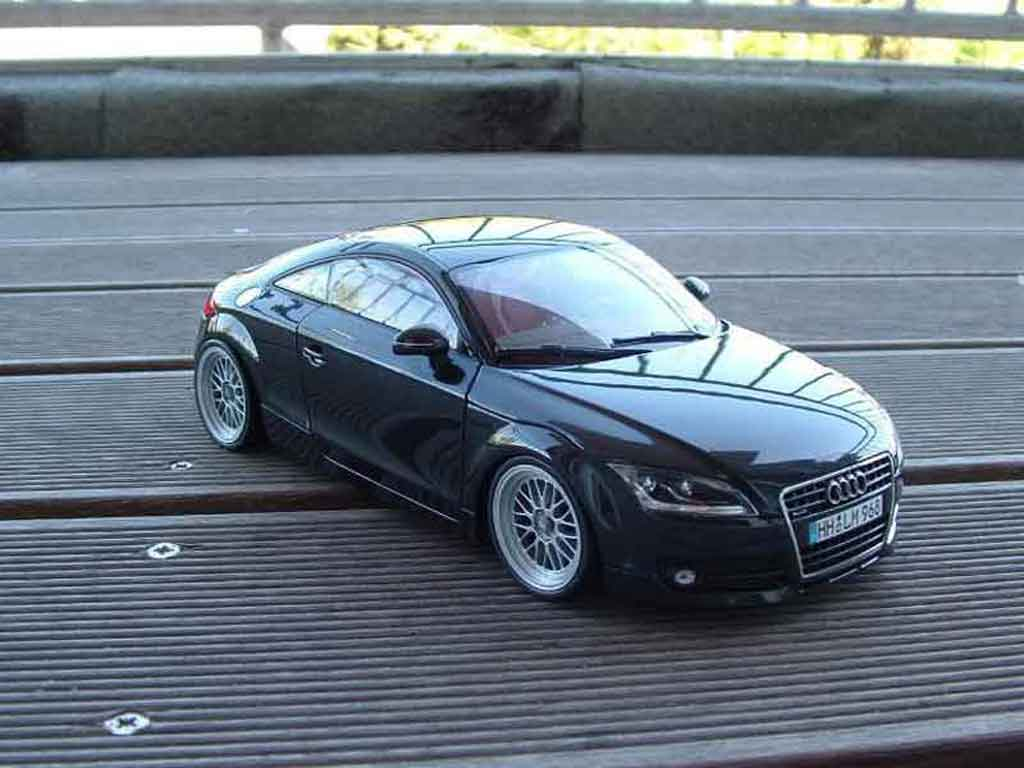 Audi TT coupe 1/18 Minichamps jantes bbs miniatura