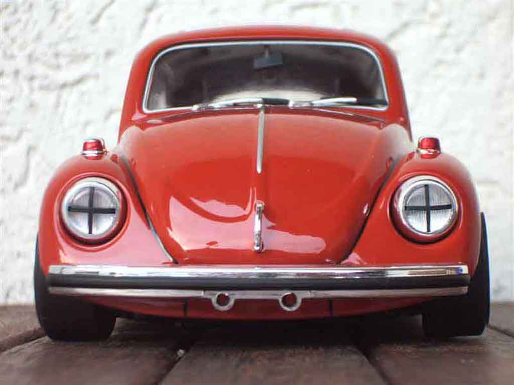Volkswagen Kafer 1/18 Burago coccinelle red diecast model cars