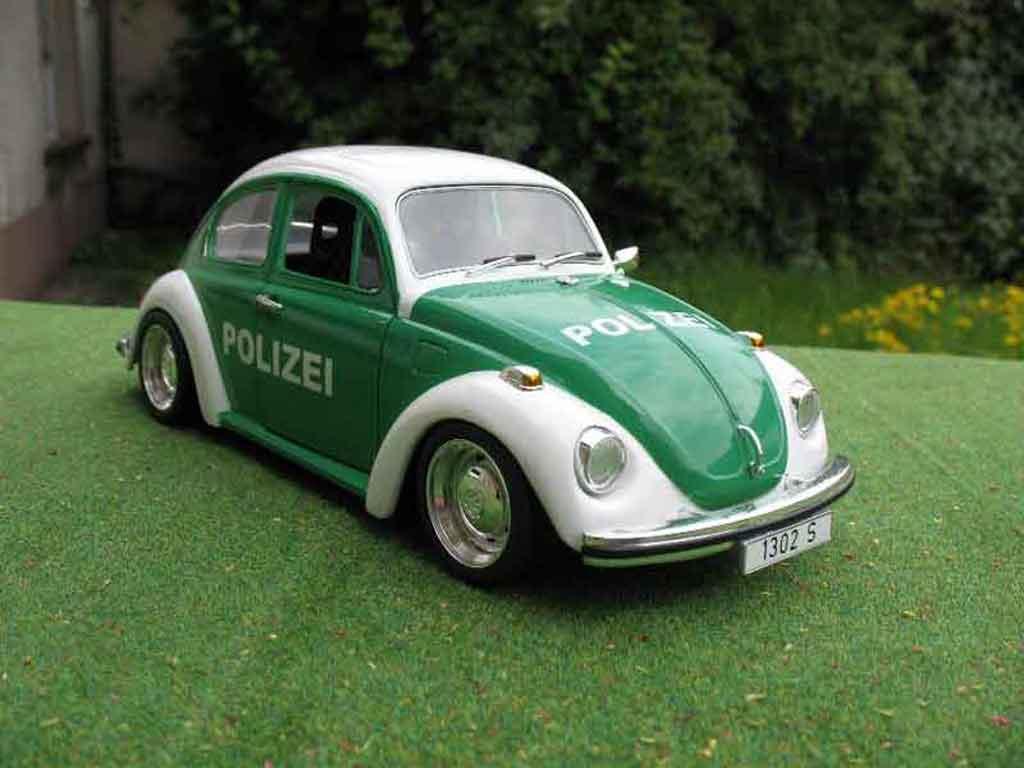 Volkswagen Kafer 1/18 Solido coxinelle polizei / police miniature
