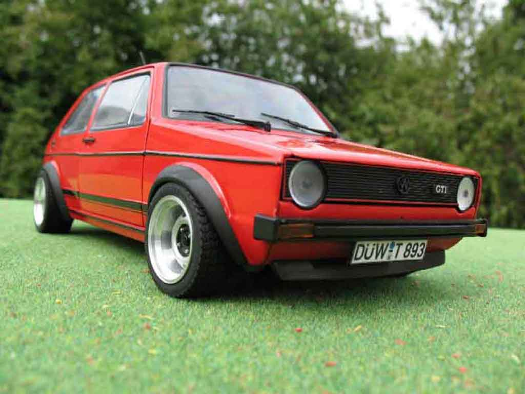 Volkswagen Golf 1 GTI 1/18 Solido jantes ATS 13 pouces red diecast model cars