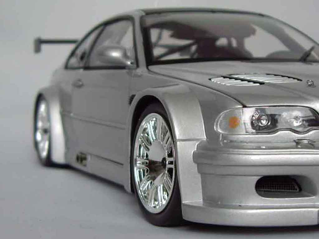Bmw M3 E46 1/18 Minichamps GTR grey diecast model cars