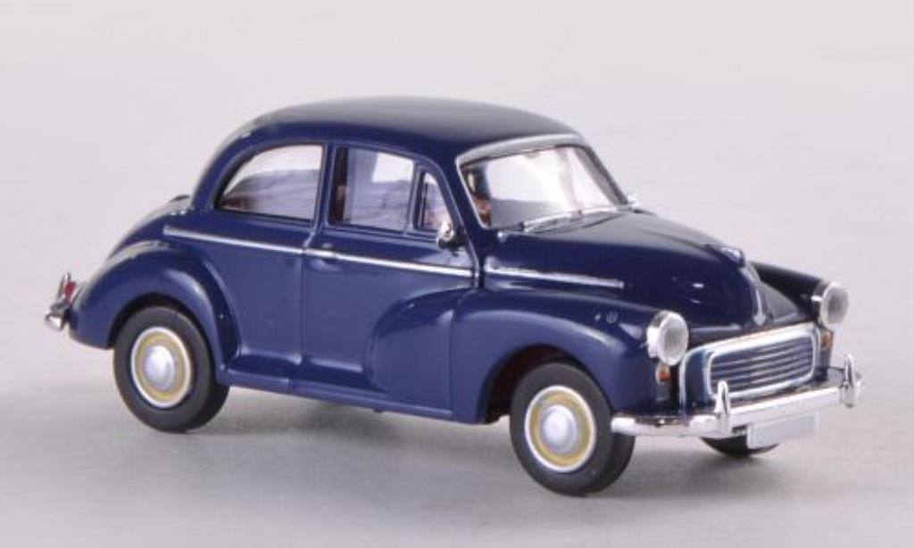 Morris Minor 1/87 Brekina bleu (GB) miniature
