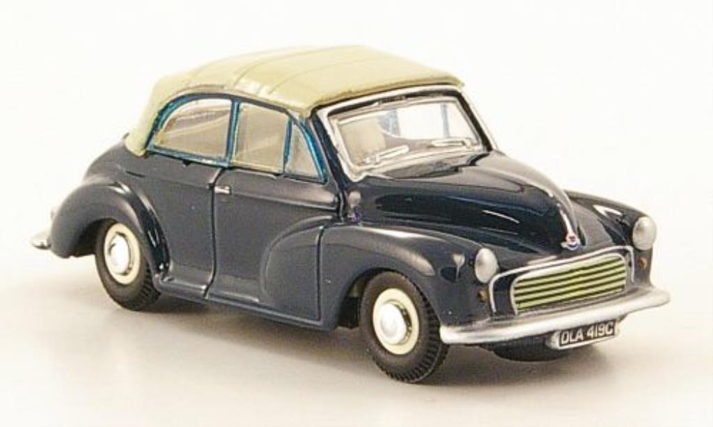 Morris Minor 1/76 Oxford bleu/grise geschlossen miniature