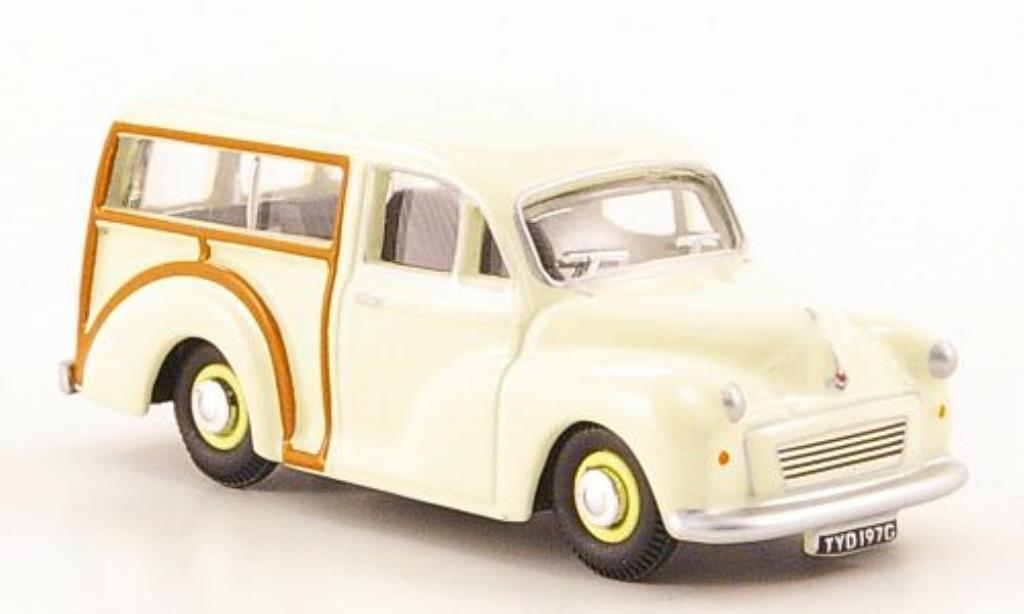Morris Minor 1/76 Oxford Traveller blanche miniature