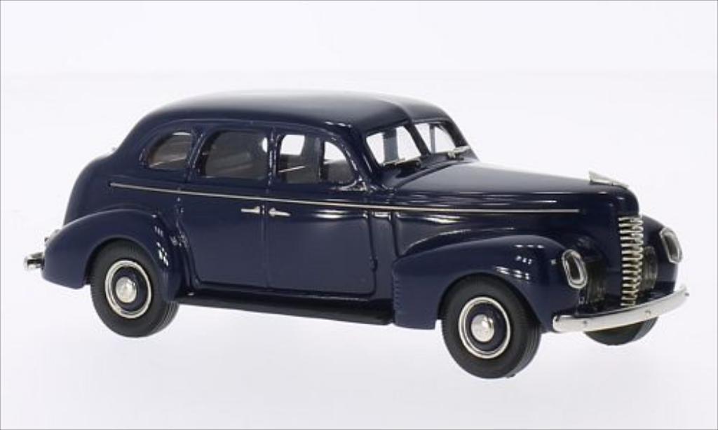 Nash Ambassador 1/43 Brooklin Eight 4-door Touring Sedan bleu 1939