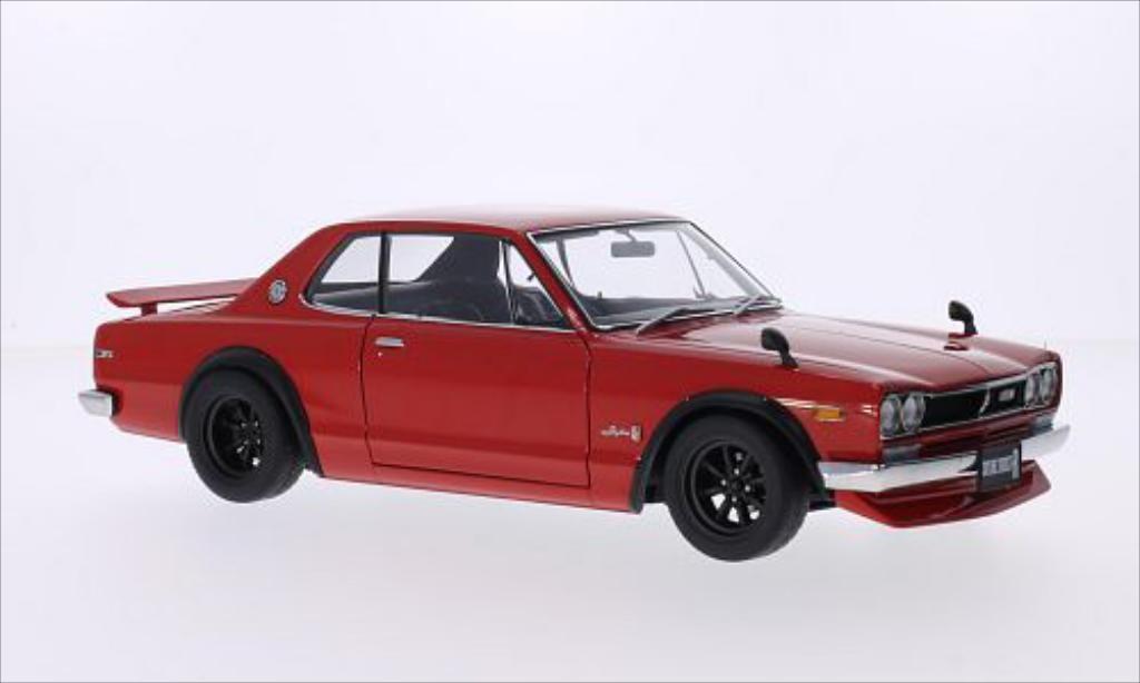 Nissan Skyline 1/18 Autoart GT-R (KPGC10) rouge RHD miniature