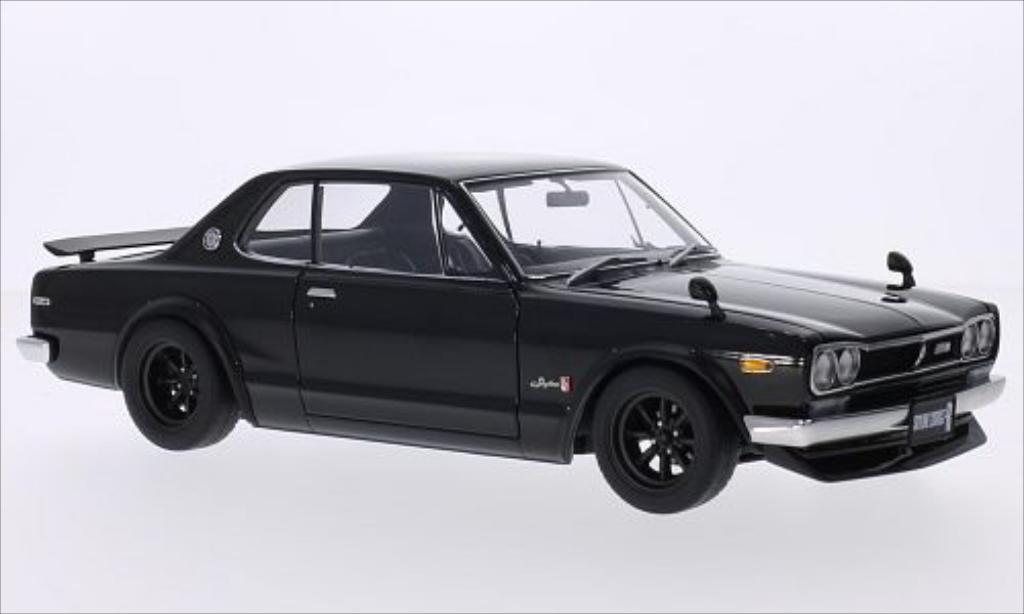 Nissan Skyline 1/18 Autoart GT-R (KPGC10) noire RHD miniature