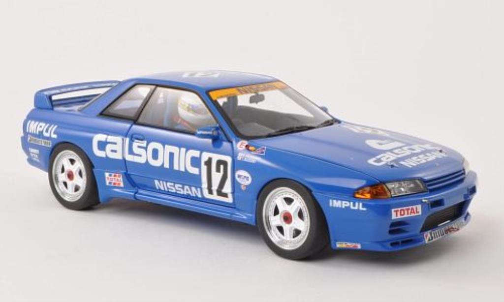 Nissan Skyline 1/18 Autoart GT-R (R32) Gr.A No.12 Calsonic 1990 /T.Suzuki miniature