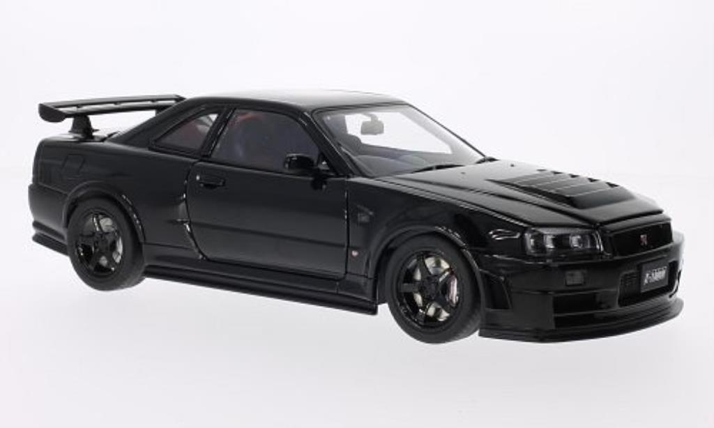 Nissan Skyline 1/18 Autoart GT-R (R34) NISMO Z-Tune nero 2005 modellino in miniatura