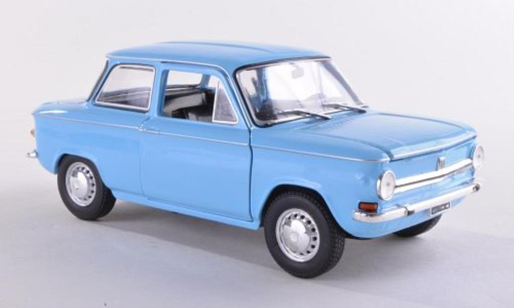 NSU Prinz 1/24 WhiteBox 4L bleu 1970 miniature