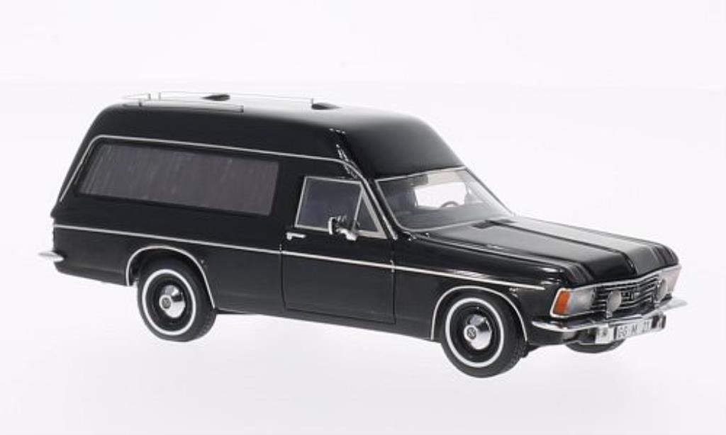 Opel Admiral 1/43 Matrix B Bestattungswagen noire 1974 miniature