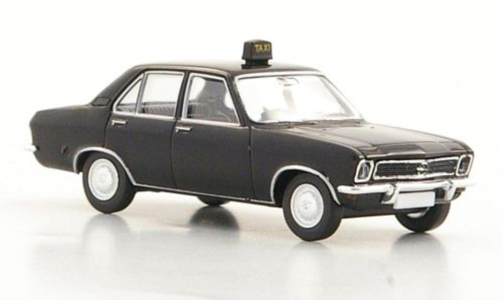 Opel Ascona A 1/87 Brekina Taxi noire 4-Turer miniature