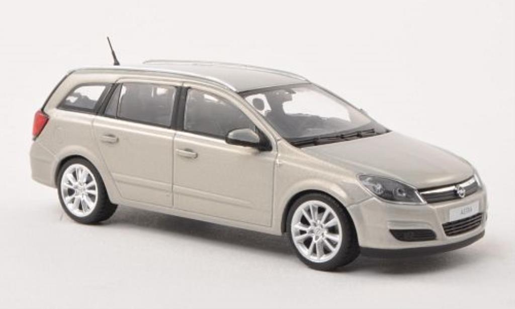 Opel Astra 1/43 Minichamps H Caravan grise miniature