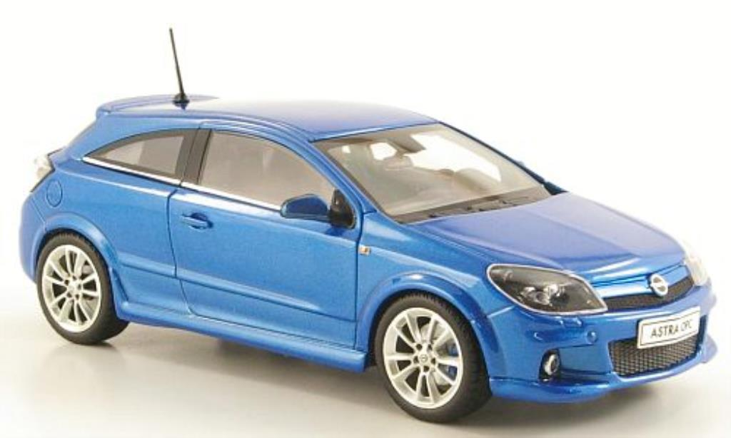 Opel Astra 1/43 Minichamps H OPC bleu 3-Turer miniature