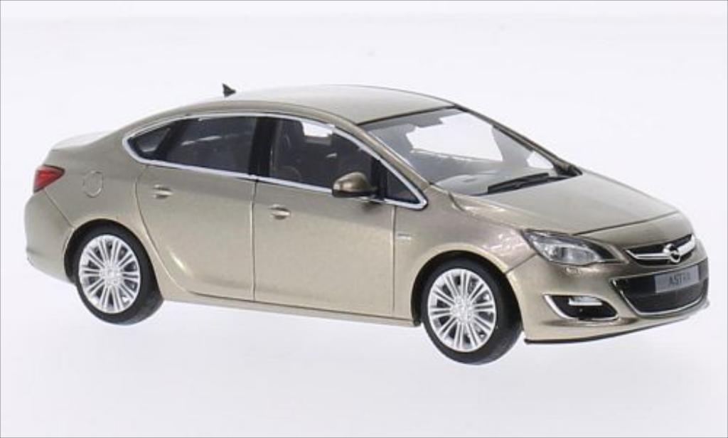 Opel Astra 1/43 Minichamps J Limousine gold 2012 miniature
