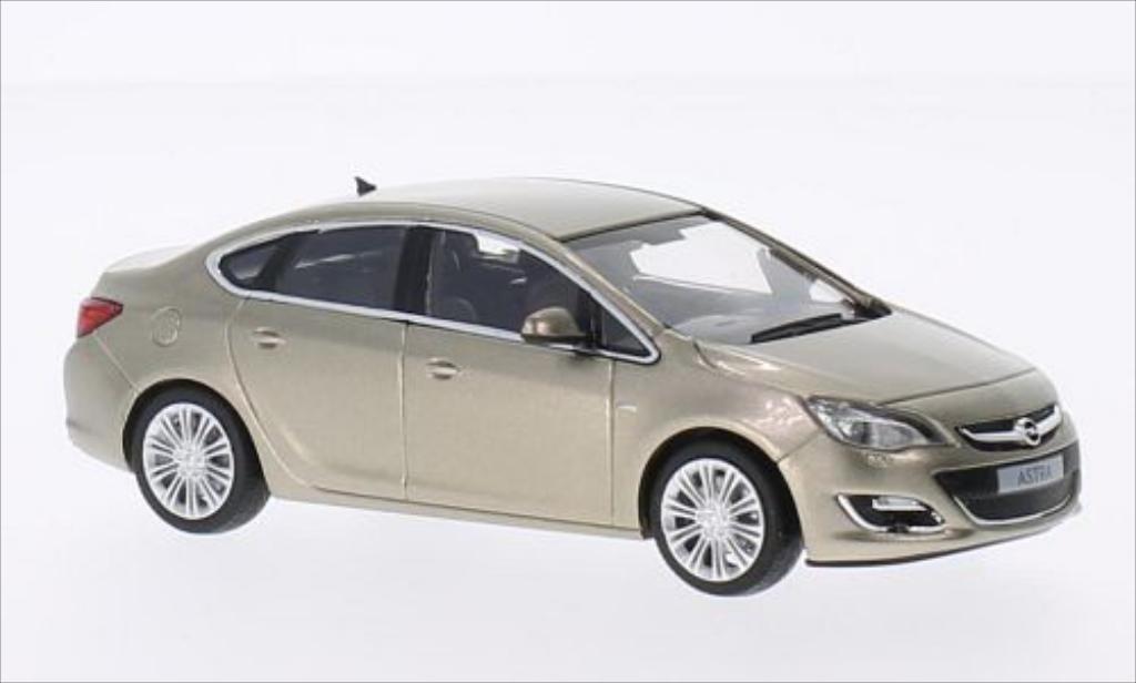 Opel Astra 1/43 Minichamps J Limousine metallise beige miniature