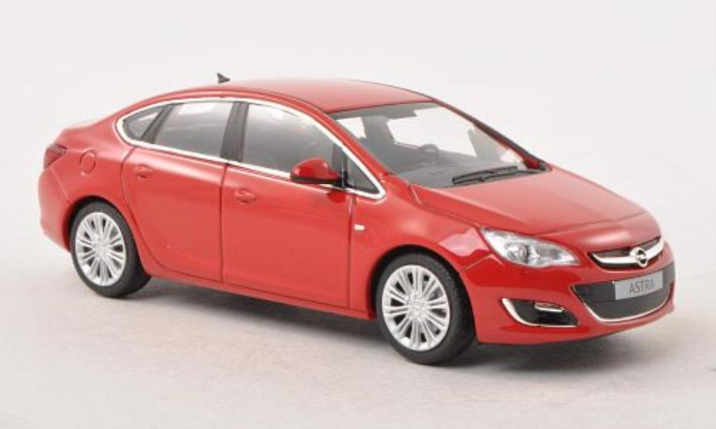 Opel Astra 1/43 Minichamps J Limousine red 2012 diecast