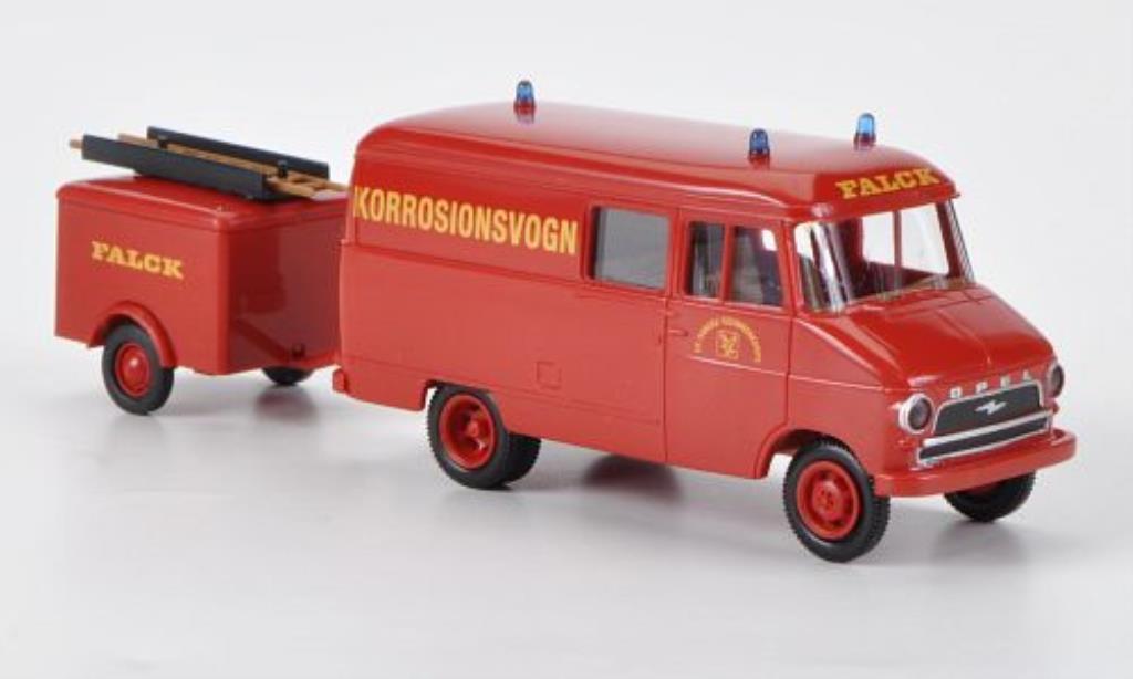 Opel Blitz 1/87 Brekina A Kasten mit Anhanger Falck Korrosionsvogn miniature