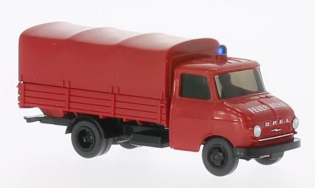 Opel Blitz 1/87 Wiking Pritschen-LKW Feuerwehr diecast