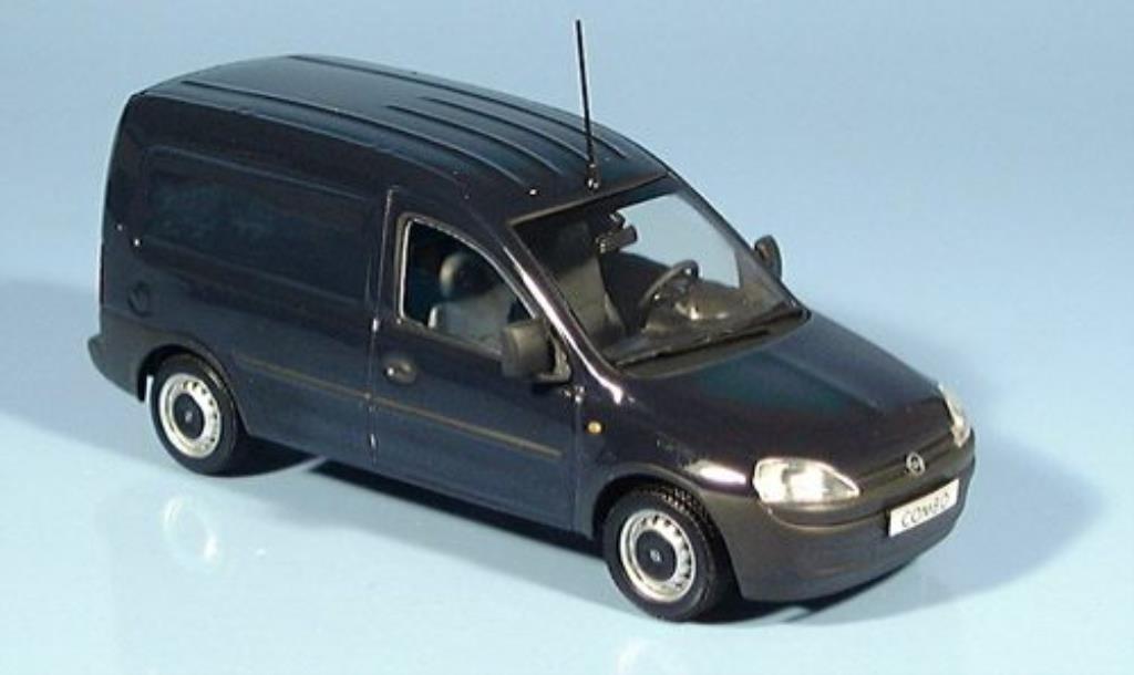 Opel Combo 1/43 Minichamps Van bleu 2002 miniature